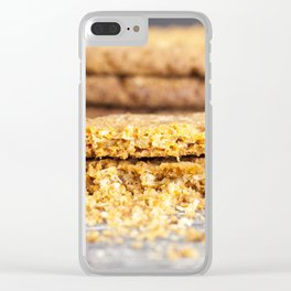 Painted oatmeal cookies Clear iPhone Case