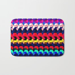 Spectrum Cubes / Pattern #7 Bath Mat
