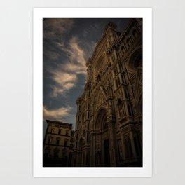 Entrance To The Duomo di Firenze Art Print