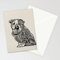 Polynesian English Bulldog Stationery Cards