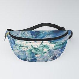 Aquamarine Geode Fanny Pack
