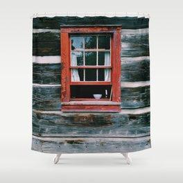 Vintage Window Shower Curtain