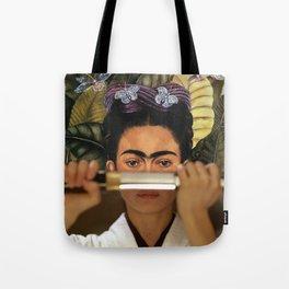 Kill Bill's O-Ren Ishii & Frida Kahlo's Self Portrait Tote Bag
