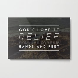 Hurricane Disaster Relief Metal Print
