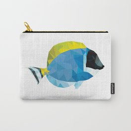 Geometric Abstract Powder Blue Tang Fish Carry-All Pouch