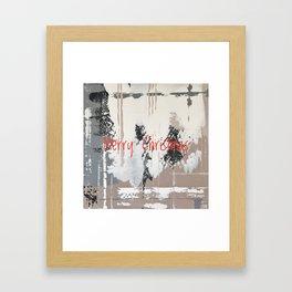 Snowfall - Merry Christmas Framed Art Print