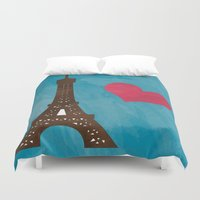 eiffel Duvet Covers featuring Eiffel by Daniela Marti