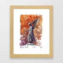 Bethesda Fountain Angel Framed Art Print