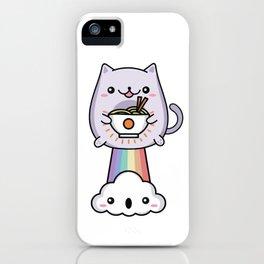 Farting Cat Japanese Ramen Noodle iPhone Case