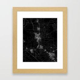 Stockton map California Framed Art Print
