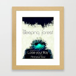 Final Fantasy VII - Sleeping Forest Tourism Tee Framed Art Print
