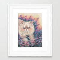 melissa smith Framed Art Prints featuring Melissa by RayneColdkiss