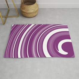 lollipop in white and purple Rug