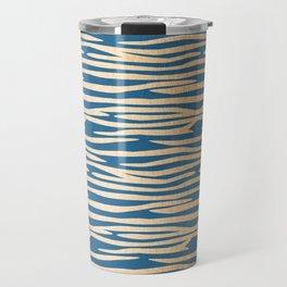 Zebra - Orange Sherbet Shimmer on Saltwater Taffy Teal Travel Mug