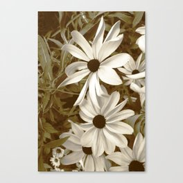 White Florals Canvas Print