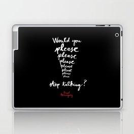 Please-Black  Laptop & iPad Skin