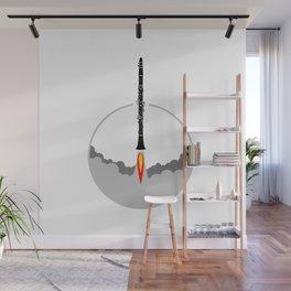 Clarinet Rocket Wall Mural