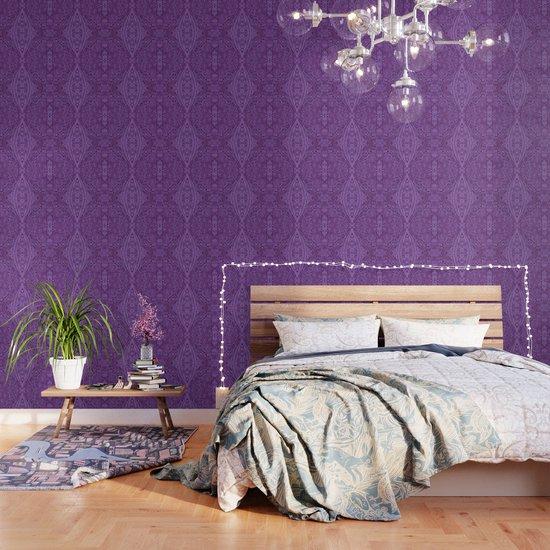 Lavender Spiral Pattern by catyarte