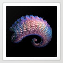 3D Fractal Curl Art Print