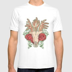 Hands MEDIUM White Mens Fitted Tee