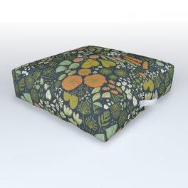 Botanical Sketchbook M+M Navy by Friztin Outdoor Floor Cushion