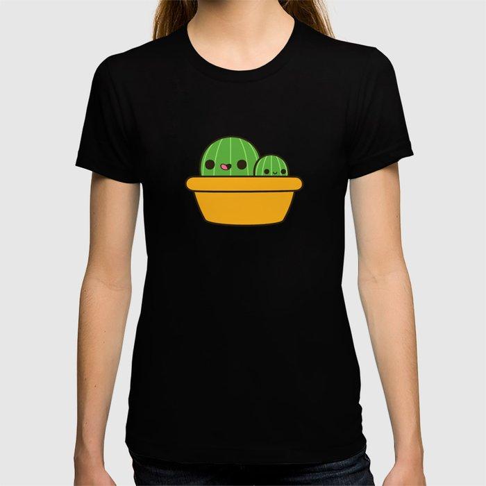 Cute cactus in yellow pot T-shirt
