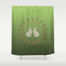 Carrots and Rabbits Shower Curtain
