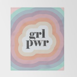 Grl Pwr Throw Blanket