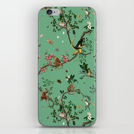 Monkey World Green iPhone Skin