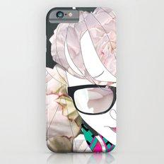 Portrait in flowers iPhone 6 Slim Case