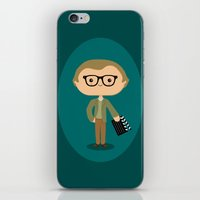 woody allen iPhone & iPod Skins featuring Woody Allen by Sombras Blancas Art & Design