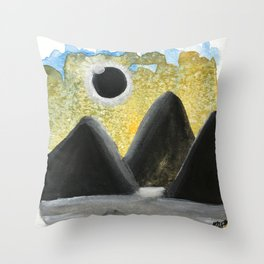 Solar Eclipse Dreams Throw Pillow