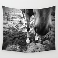 feet Wall Tapestries featuring Fancy Feet by Crystal Granlund