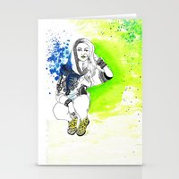 acid Stationery Cards featuring Acid by N.I.S.