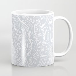Light Gray Ethnic Eclectic Detailed Mandala Minimal Minimalistic Coffee Mug