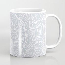 Light Gray Ethnic Eclectic Detailed Mandala Minimal Minimalistic Coffee Mug