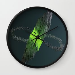 Gravitational Fracture Wall Clock