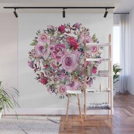 Bouquet of flower - wreath Wall Mural