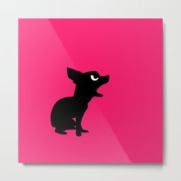 Angry Animals: Chihuahua Metal Print