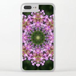 Constellation of Verbena flowers mandala Verbena bonariensis 1829 k2 Clear iPhone Case