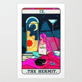 Hermit Tarot Card Art Print