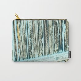 Abstract Wood Carry-All Pouch