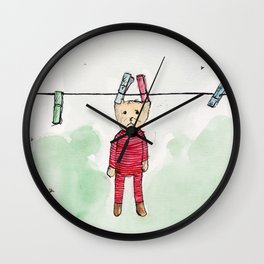 Hung out to dry Wall Clock