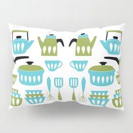 My Midcentury Modern Kitchen In Aqua And Avocado Pillow Sham