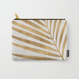 Metallic Gold Palm Leaf Carry-All Pouch