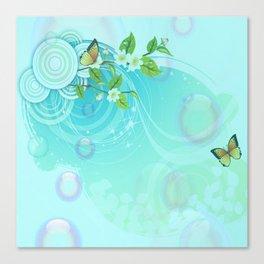 Contemporary Butterflies Canvas Print