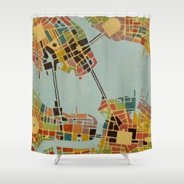 cypher number 8  (ORIGINAL SOLD). Shower Curtain