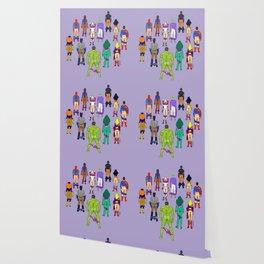 Superhero Butts - Power Couple on Violet Wallpaper