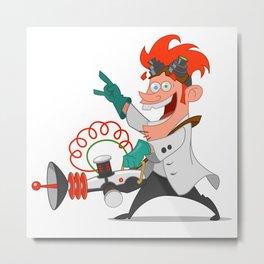 crazy scientist Metal Print