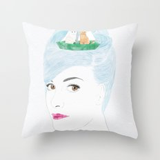 When Audrey Met Edward Throw Pillow